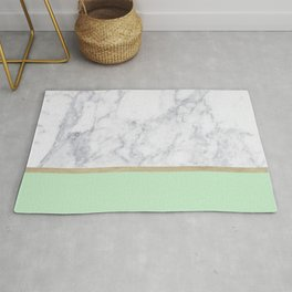 MINT MARBLE GOLD Rug
