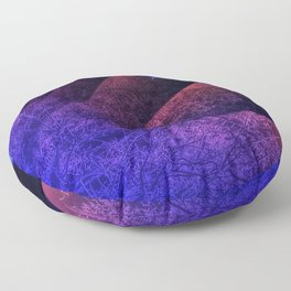 Pleated fantasy forest Floor Pillow