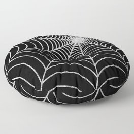 Spiderweb | Silver Glitter Floor Pillow