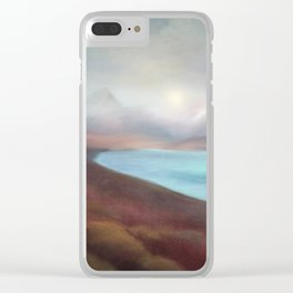 Minimal abstract landscape IV Clear iPhone Case