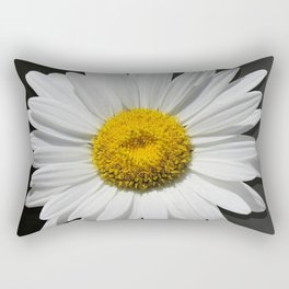Contemporary White Daisy on Grey Pop Of Yellow Art A490 Rectangular Pillow