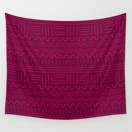 Mud Cloth in Raspberry Wall Tapestry