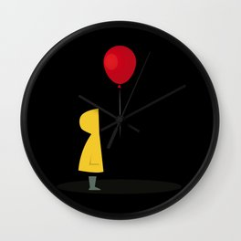 Red Balloon for 1 Penny Wall Clock