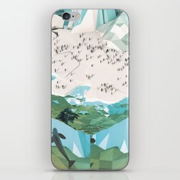 Low Poly Arctic Scenes - King Penguins (Isometric) iPhone Skin