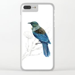 Tui, New Zealand native bird Clear iPhone Case