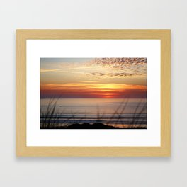Sunset Surf Gwithian Bay Framed Art Print