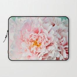 Peony Flower Photography, Pink Peony Floral Art Print Nursery Decor A happy life - Peonies 2 Laptop Sleeve