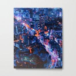 Tokyo at Night Metal Print