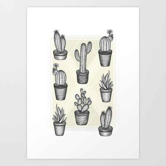 Prickly Friends Art Print