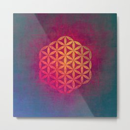 Flower Of Life (Light Within) Metal Print
