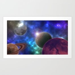 Space Expedition Art Print