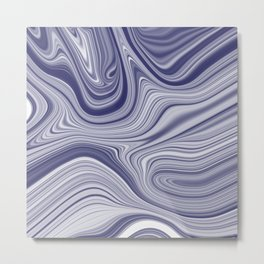 EDDY shades of purple & white in abstract agate pattern Metal Print