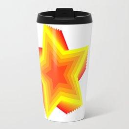 red yellow star Travel Mug