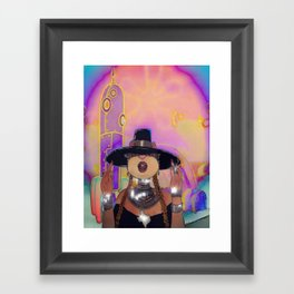 S. Cheeks in Formation Framed Art Print
