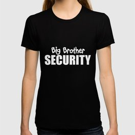 Big Brother Security Boys Humourous New Cotton Sibling Baby Pregnancy T-Shirts T-shirt