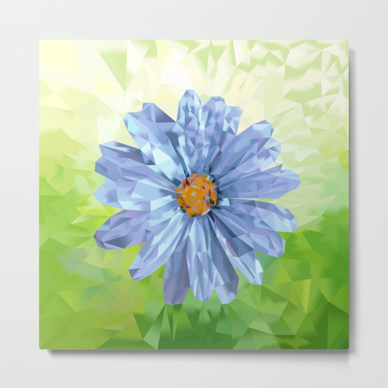 Crystal Flower‎ Metal Print