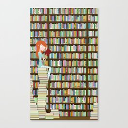 When in doubt, go to the library Canvas Print