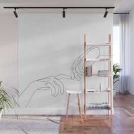 Finger touch Wall Mural