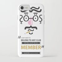 "marx iPhone & iPod Cases featuring Type Faces No.1 Groucho Marx: ""I don't care to belong to any club that will have me as a member"" by Joe Pugilist Design"