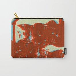 Silkscreen guitar print Carry-All Pouch