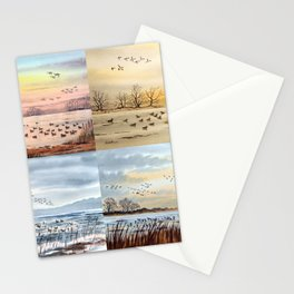 Duck Hunting Collage Stationery Cards