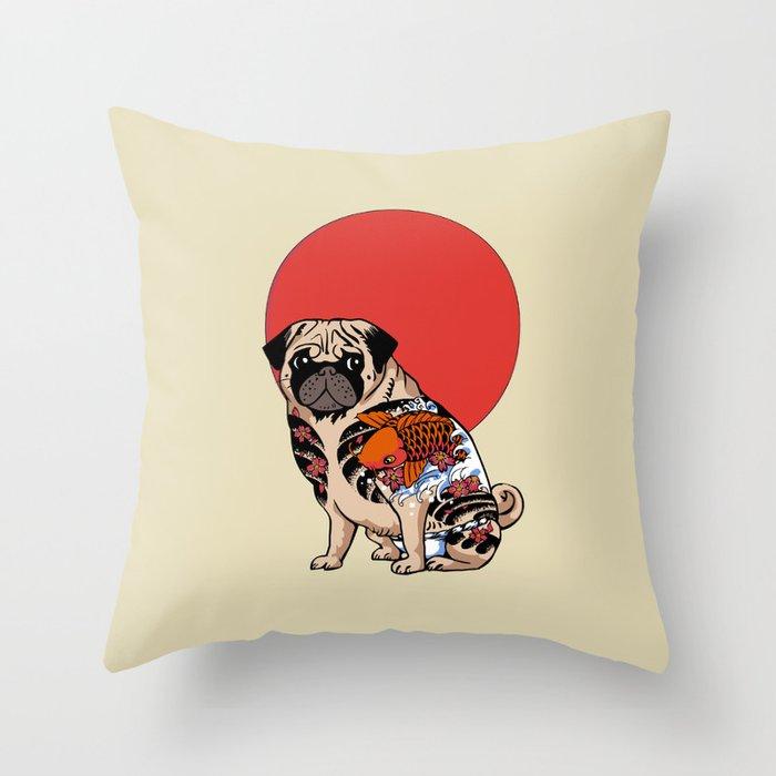 Yakuza Pug Deko-Kissen