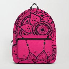 Black and Pink Mandala Backpack