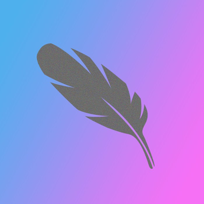 Feather on Gradient Duvet Cover