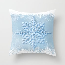 snow crystal Throw Pillow