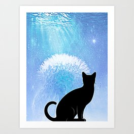 Black Cat2 Art Print