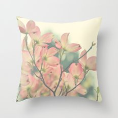 Vintage Dogwoods Throw Pillow