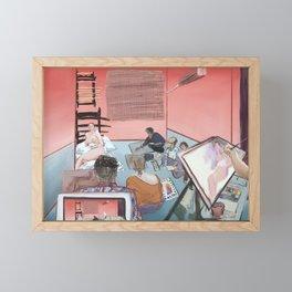 Orange Room Life Drawing scene Fauvism Framed Mini Art Print