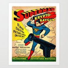 Vintage Toy Ray Gun Art Print
