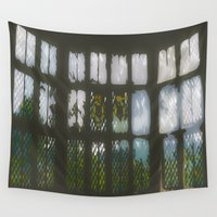 window Wall Tapestries featuring Window by Aaron Carberry
