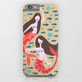 Mermaids on Kraft iPhone Case