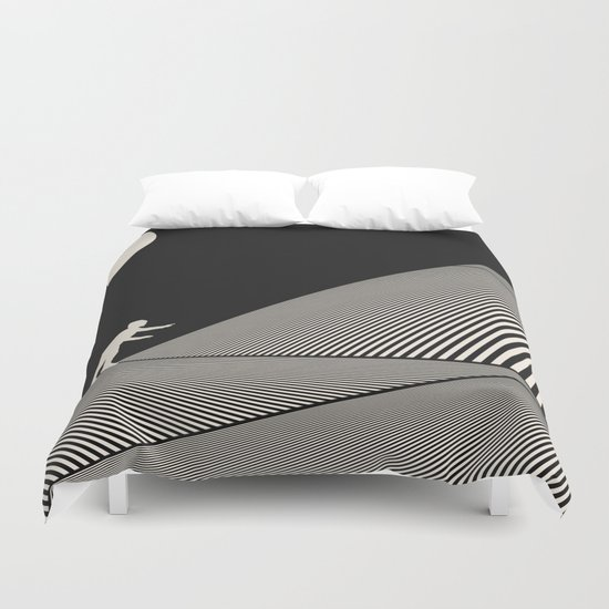 Uphill Battle Duvet Cover