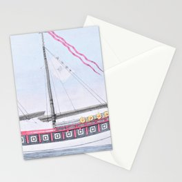 12,000pixel-500dpi - Nathaniel Currier - The Chinese Junk 'Keying' - Digital Remastered Edition Stationery Cards