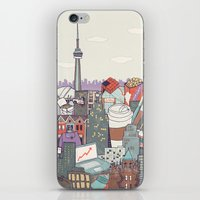 toronto iPhone & iPod Skins featuring Toronto by Ashley Ross