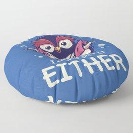 Me Neither Floor Pillow