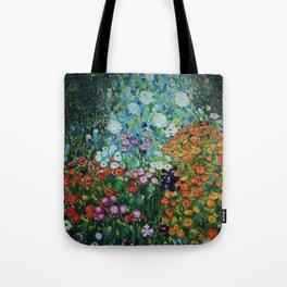 Flower Garden Riot of Colors by Gustav Klimt Tote Bag