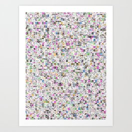 I REALLY THOUGHT THAT STARBURSTS WEREN'T ALLOWED IN HOTEL ROOMS. Art Print