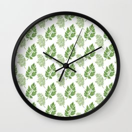 Dill and Parsley Wall Clock