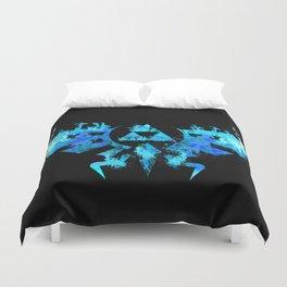 Zelda in Blue Fire Duvet Cover