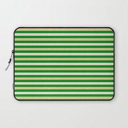 Green and Golden Horizontal Laptop Sleeve