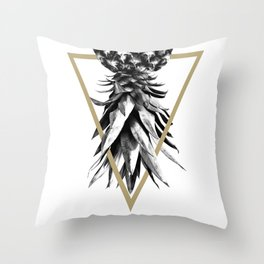 Pineapple Upside Down Geo #1 #tropical #fruit #decor #art #society6 Throw Pillow