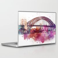 sydney Laptop & iPad Skins featuring Sydney Harbor Bridge by LebensART