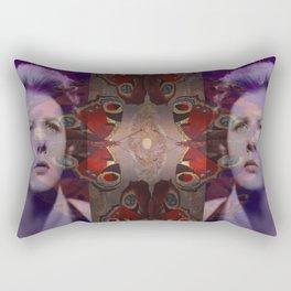 Crying over Butterflies Rectangular Pillow