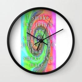 Smoke Two Joints Wall Clock