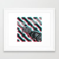 trex Framed Art Prints featuring trex by Mark Valkwitch
