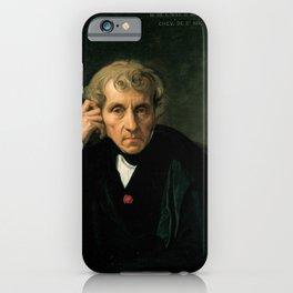 Jean-Auguste-Dominique Ingres - Luigi Cherubini iPhone Case